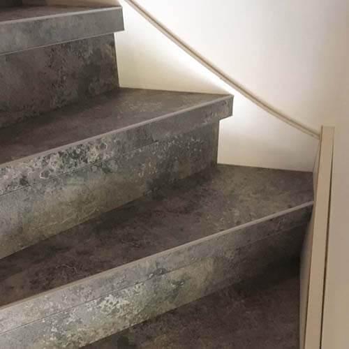 laminaat op trap calcite