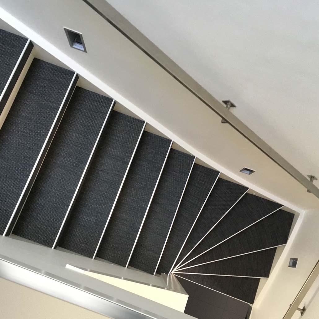 bovenaanzicht traprenovatie PVC Woven reflection