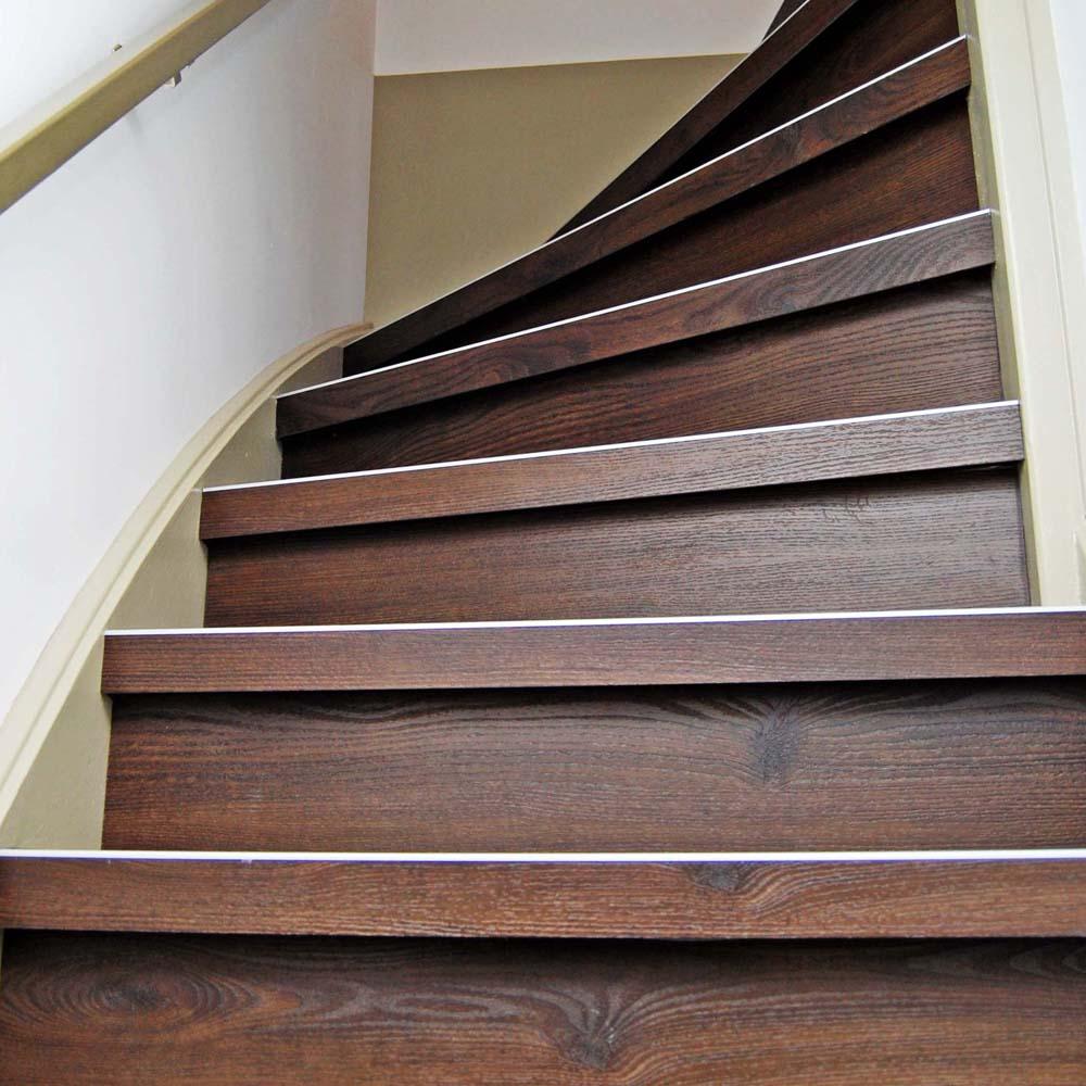 PVC trapbekleding uitgevoerd Harmony dark