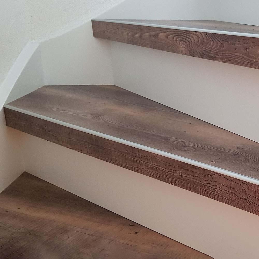 PVC op trap uitgevoerd met de kleur Matterhorn