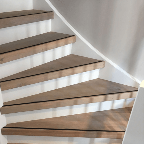 traprenovatie hout grey kleur