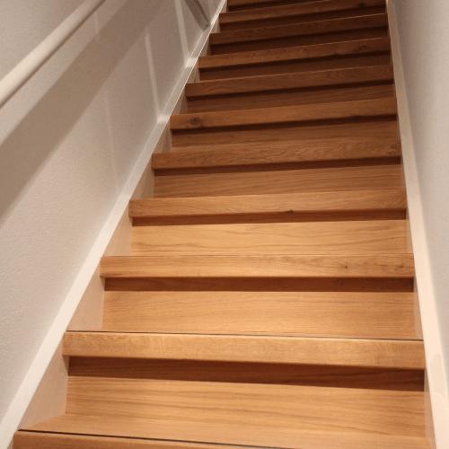 traprenovatie eiken overzettreden hout kleur pure