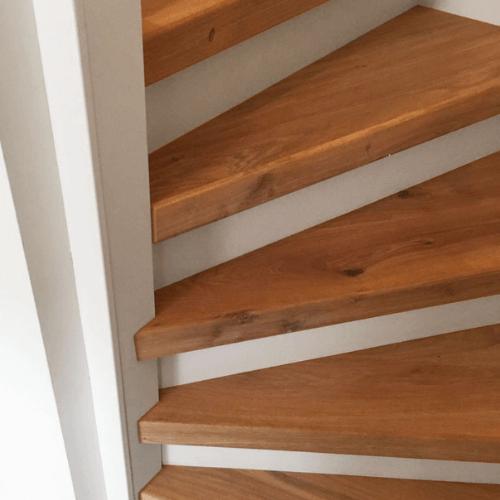 traptreden hout hout traprenovatie kleur pure